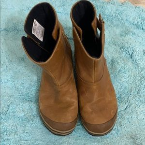 W's Sorel Leather Ankle Boots 6.5